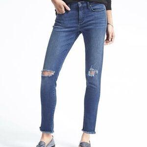 Banana Republic Skinny Fray Jeans